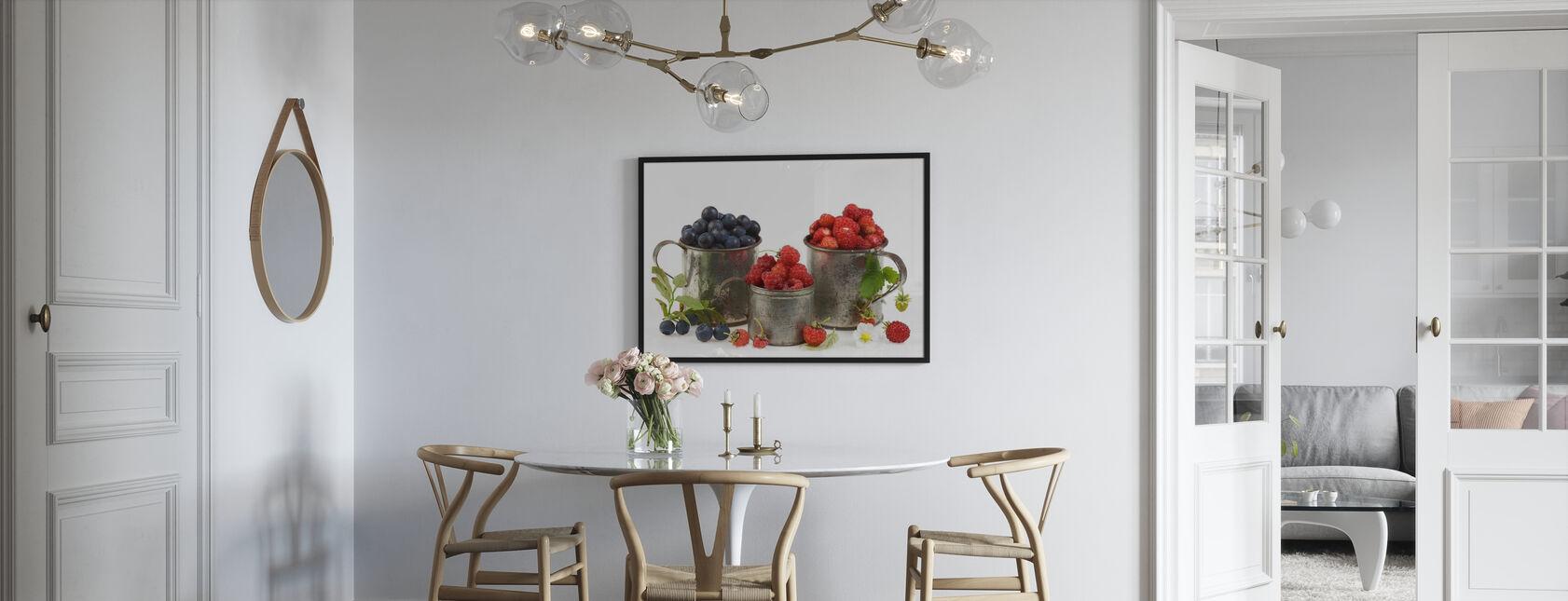 Blueberries Rasberries and Strawberries - Poster - Kitchen