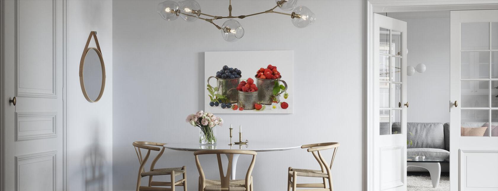 Mirtilli Mirtilli e Fragole - Stampa su tela - Cucina