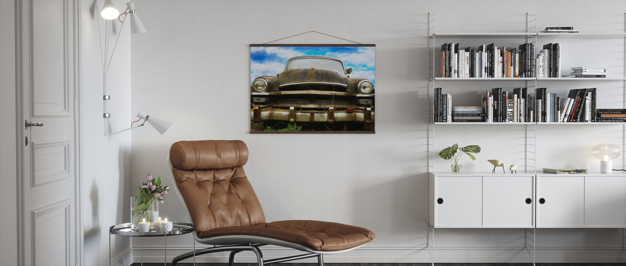 Rusty Old Car - Poster - Living Room