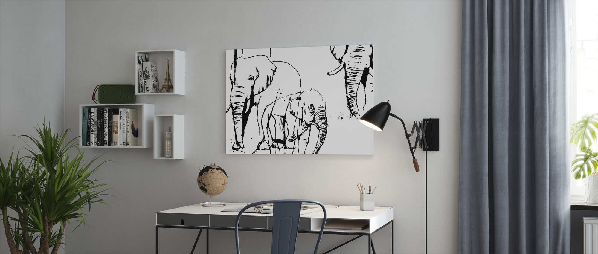 Elephant - Canvas print - Office