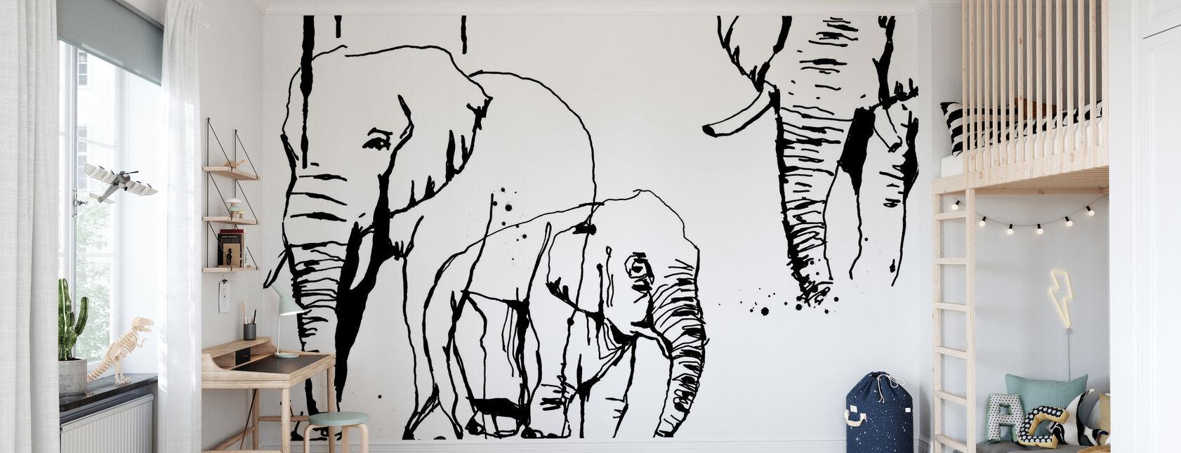 Olifant - Behang - Kinderkamer