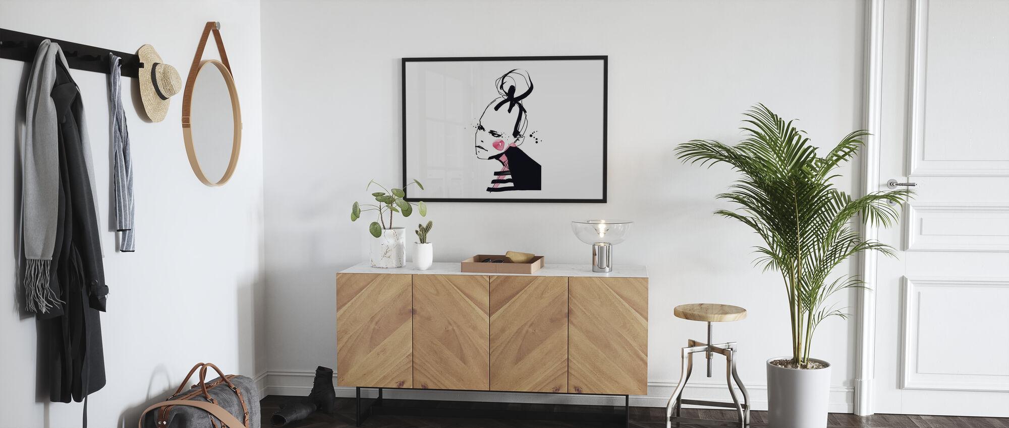 Rouge Girl - Framed print - Hallway