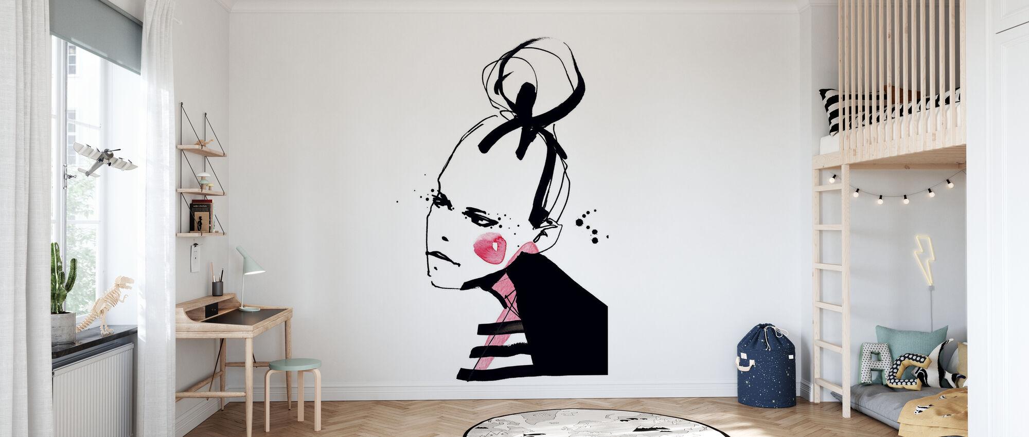 Rouge Girl - Wallpaper - Kids Room