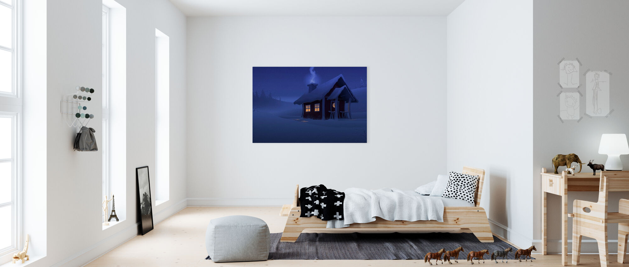 Xmas House - Canvas print - Kids Room