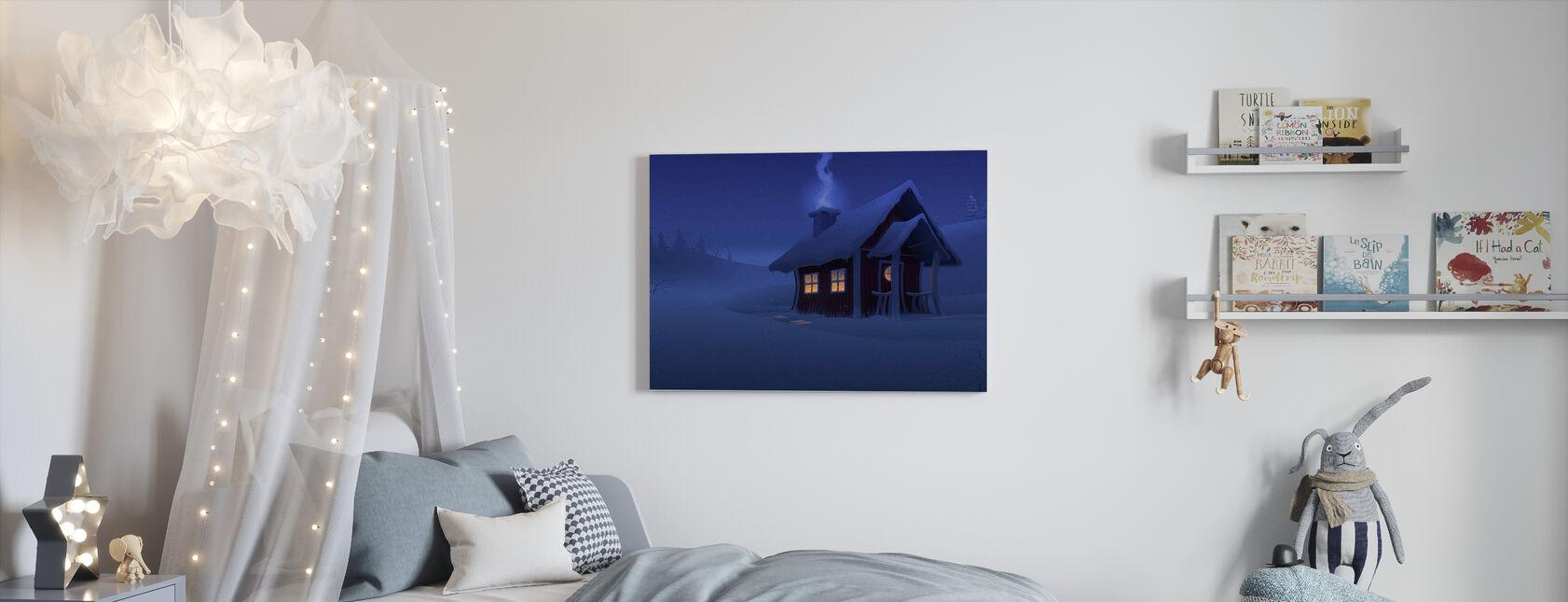 Maison de Noël - Impression sur toile - Chambre des enfants