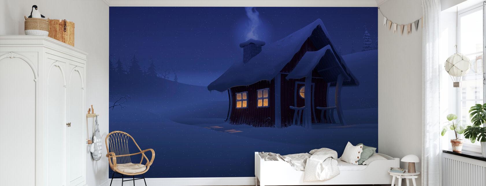 Maison de Noël - Papier peint - Chambre des enfants