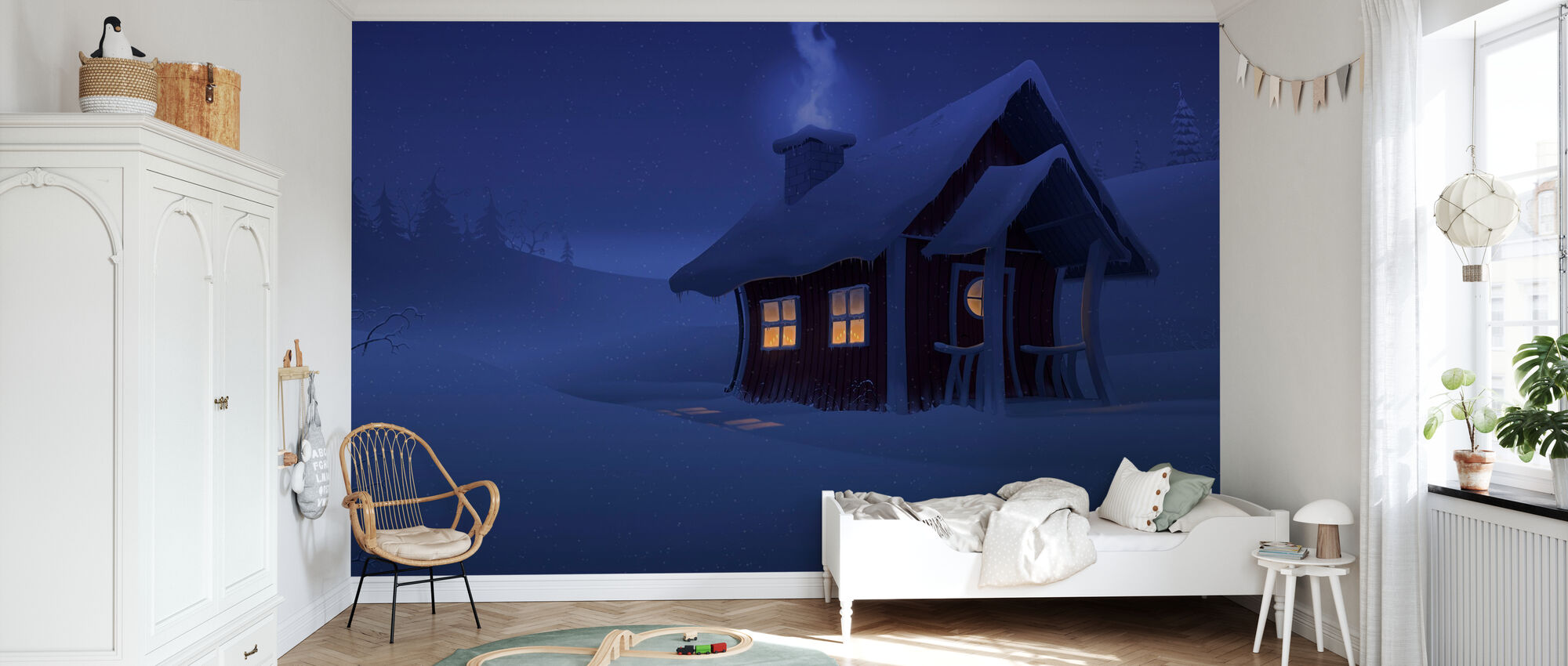 Xmas House - Wallpaper - Kids Room