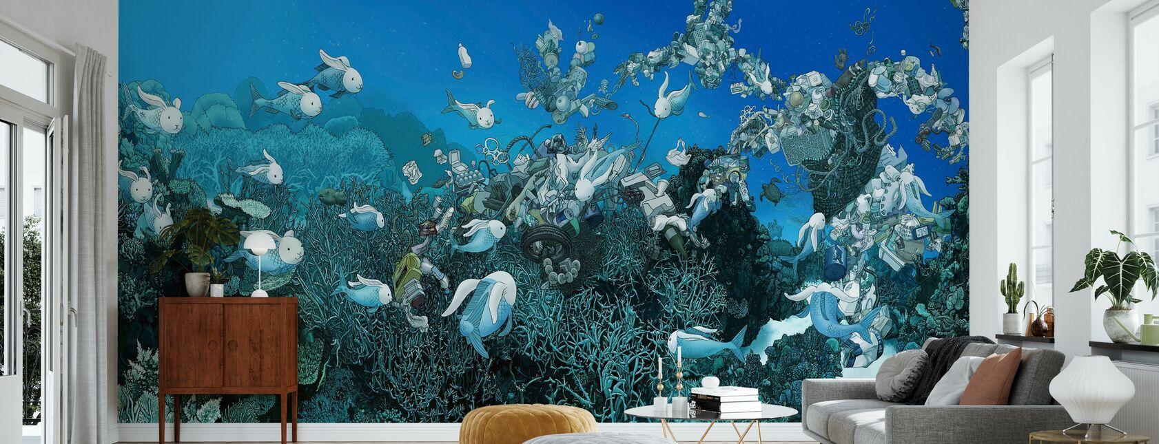 Stillehavet Drift - Tapet - Stue