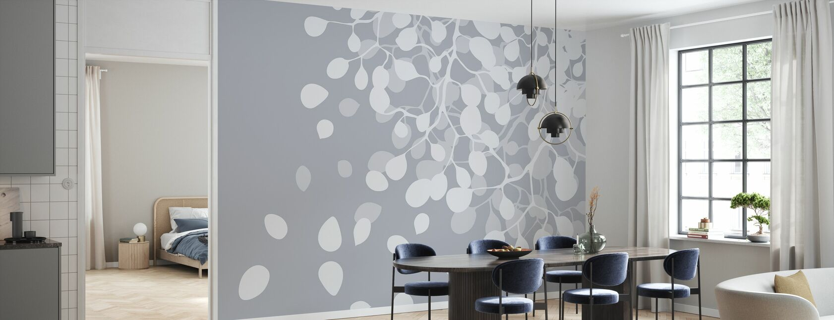 Birch Asphalt - Wallpaper - Kitchen