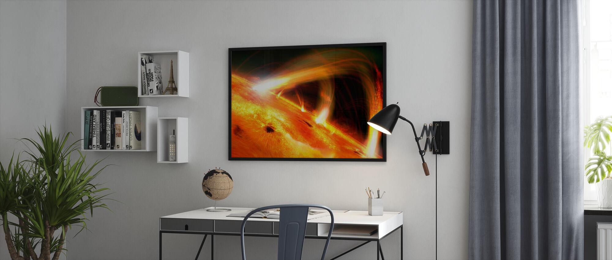 Sun Flares - Framed print - Office