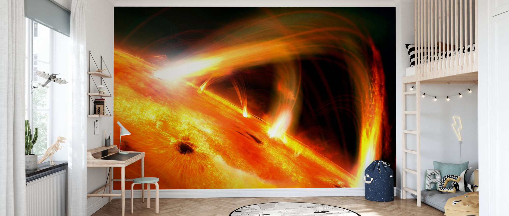Sun Flares - Wallpaper - Kids Room