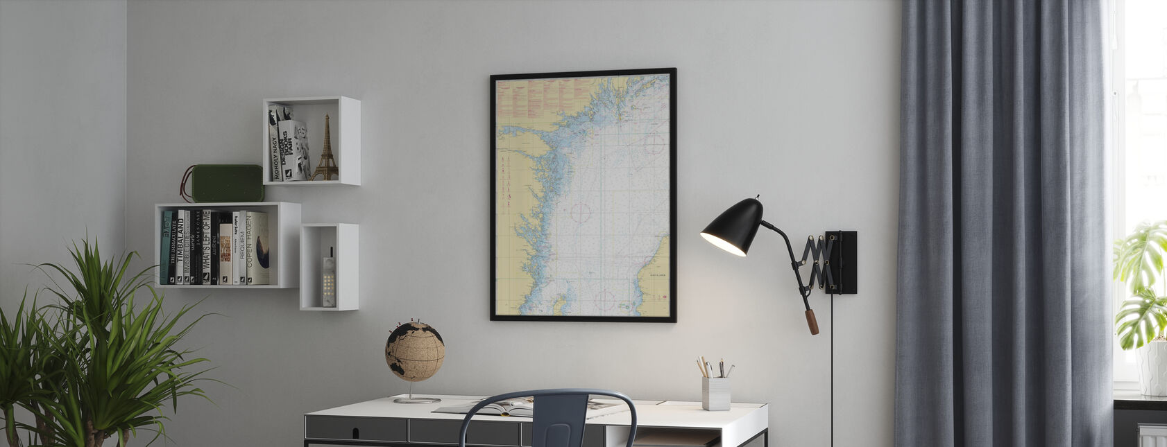 Sea Chart 72 - Oland - Landsort - Framed print - Office