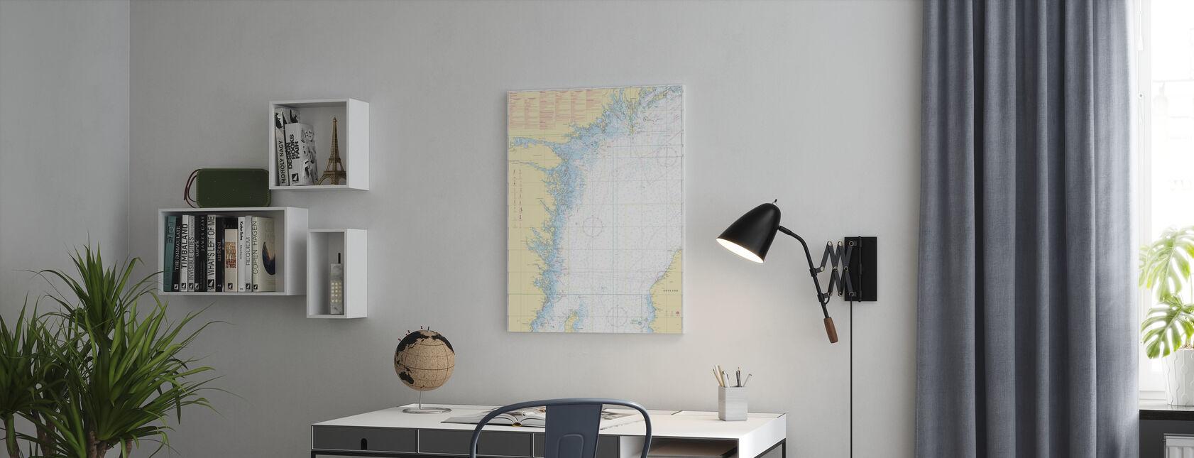 Zeekaart 72 - Oland - Landsort - Canvas print - Kantoor