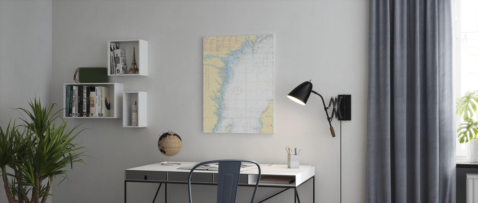 Seekarte 72 - Oland - Landsort - Leinwandbild - Büro