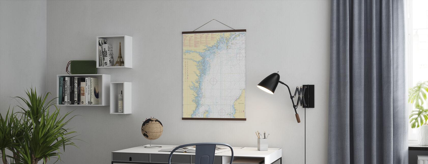 Zeekaart 72 - Oland - Landsort - Poster - Kantoor