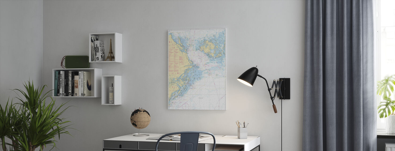 Havsdiagram 61 - Landsort - Alands Hav - Canvastavla - Kontor