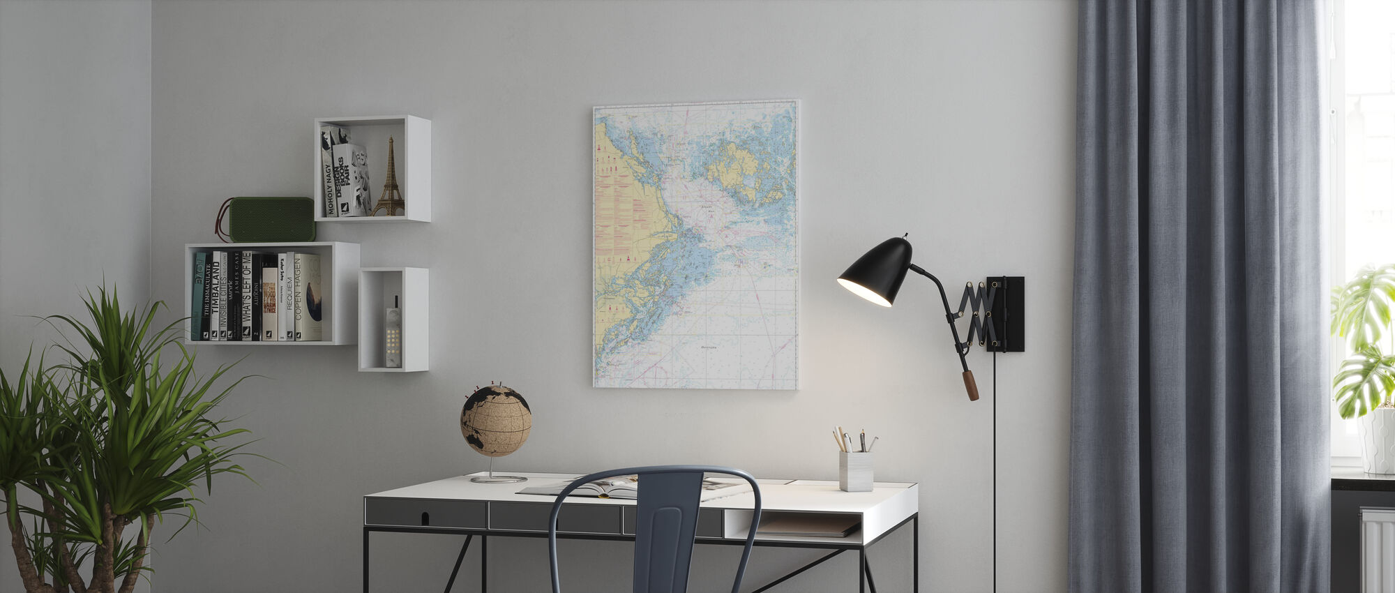 Sea Chart 61 - Landsort - Alands Hav - Canvas print - Office