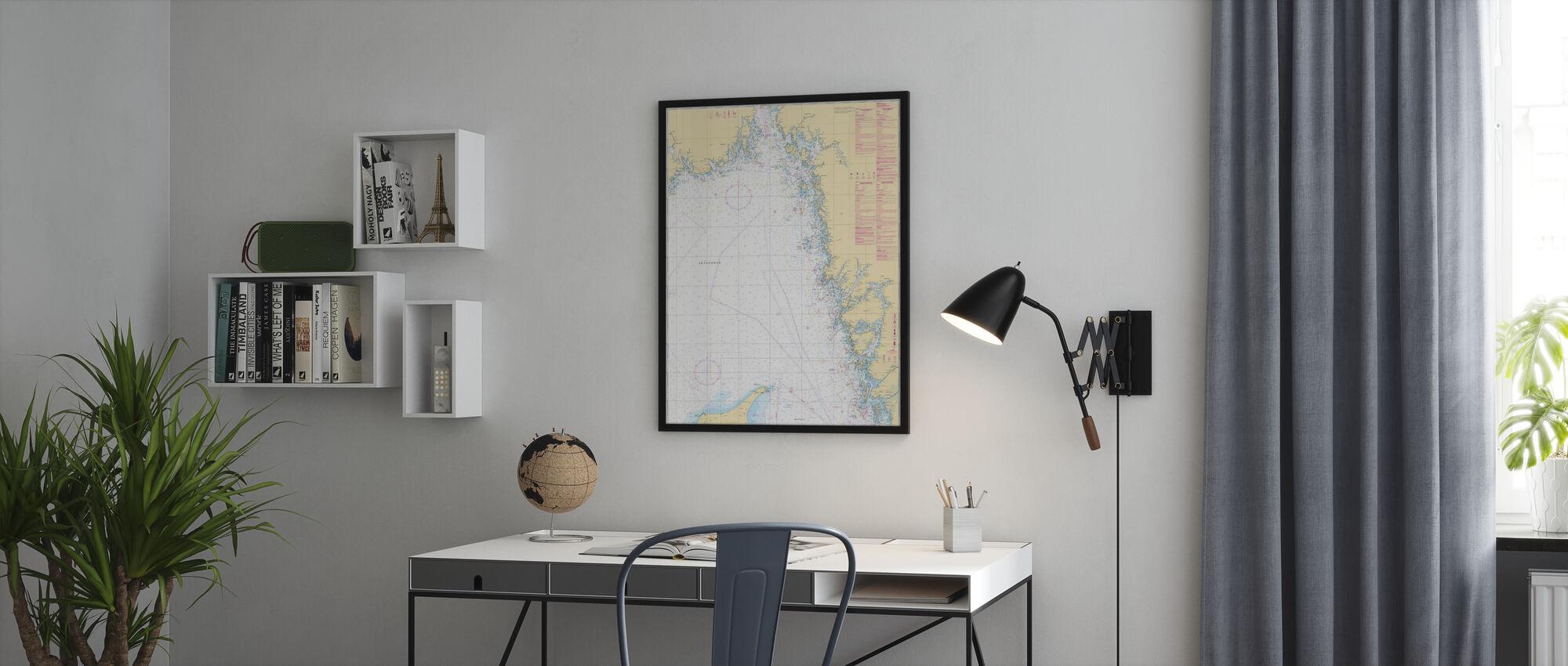 Zeekaart 93 - Skagerrak - Ingelijste print - Kantoor
