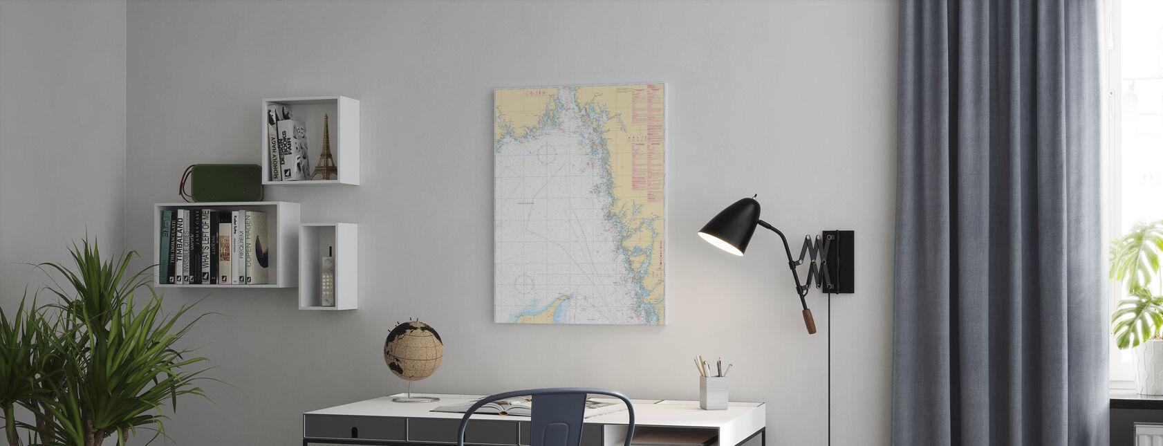 Havsdiagram 93 - Skagerrak - Canvastavla - Kontor