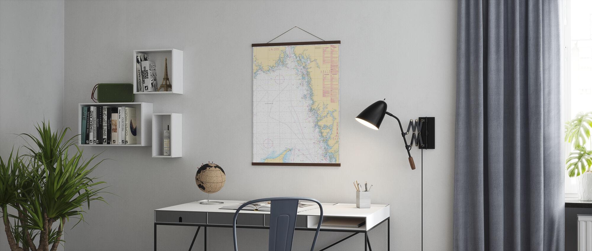 Sea Chart 93 - Skagerrak - Poster - Office