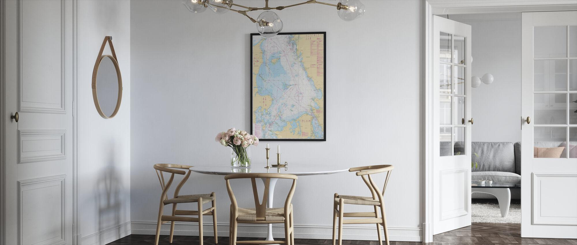 Zeekaart 92 - Kattegatt - Poster - Keuken