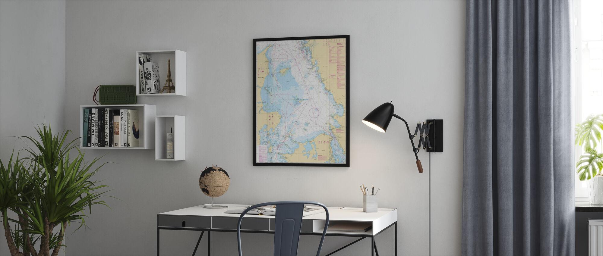 Meri Chart 92 - Kattegatt - Kehystetty kuva - Toimisto