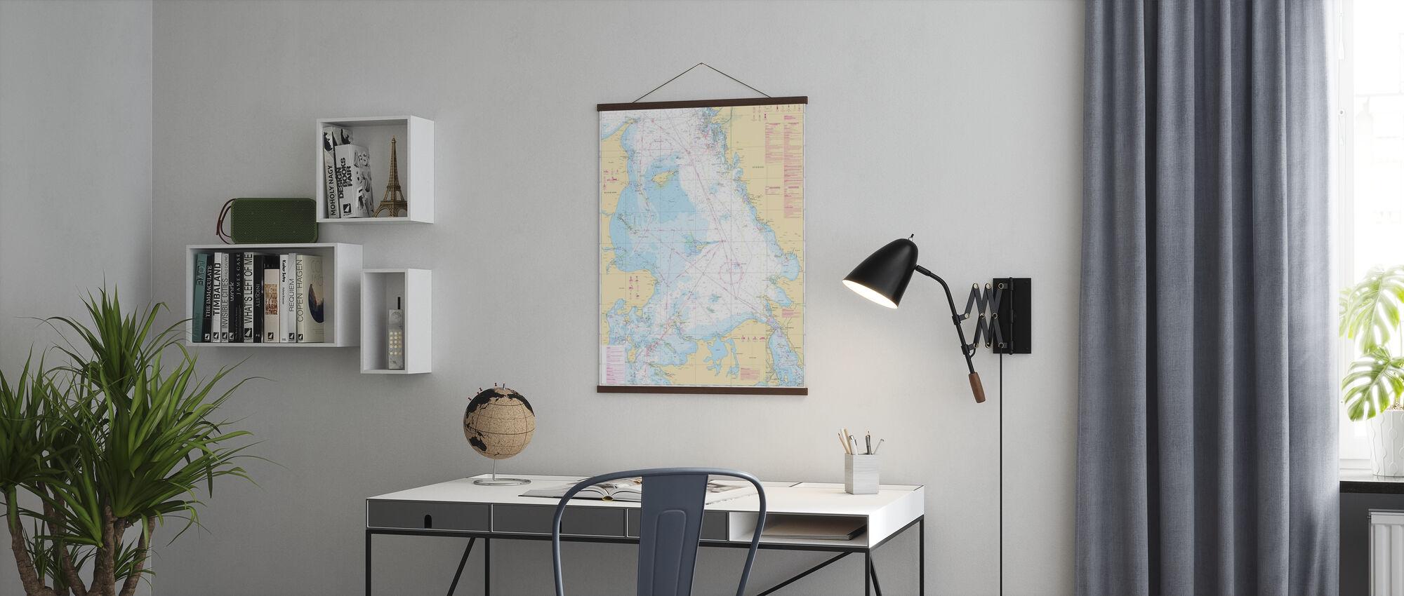 Sea Chart 92 - Kattegatt - Poster - Office