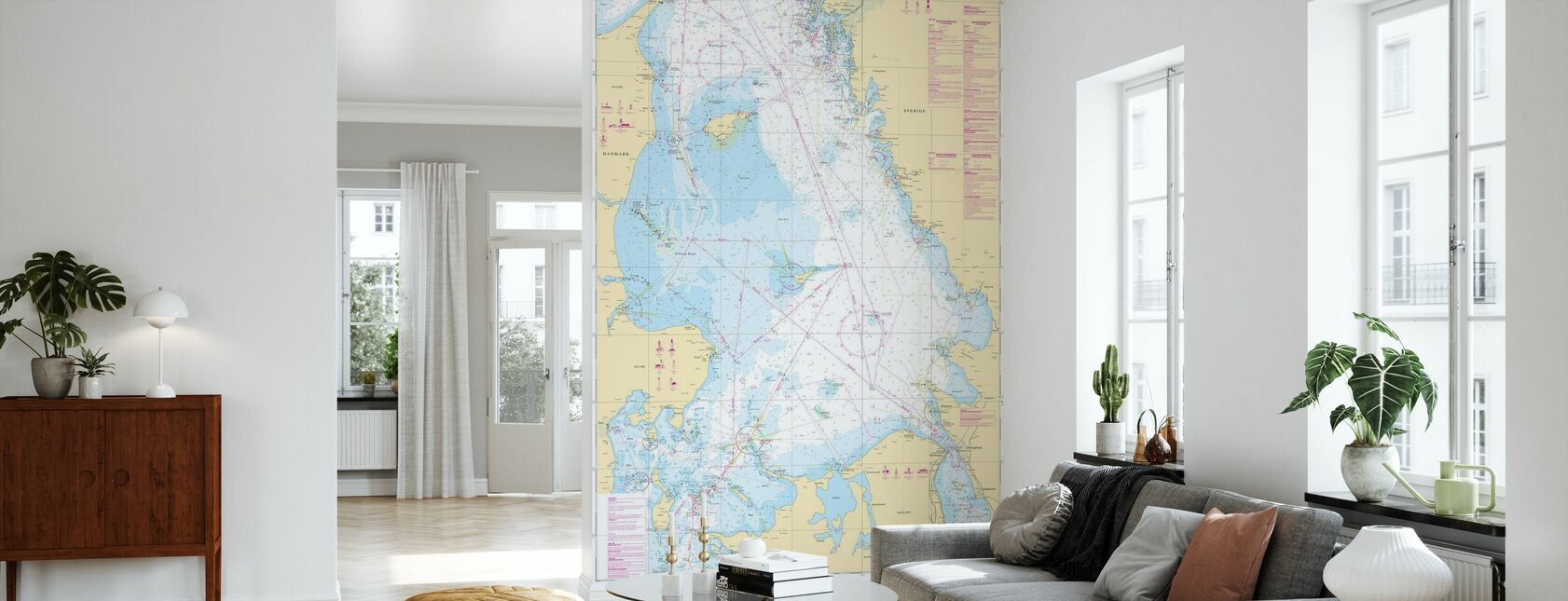 Sea Chart 92 - Kattegatt - Wallpaper - Living Room