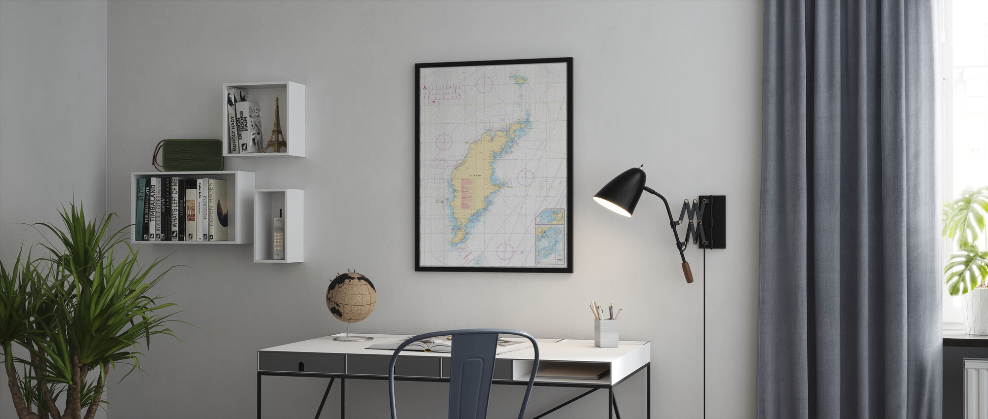 Merikaavio 73 - Gotland - Kehystetty kuva - Toimisto