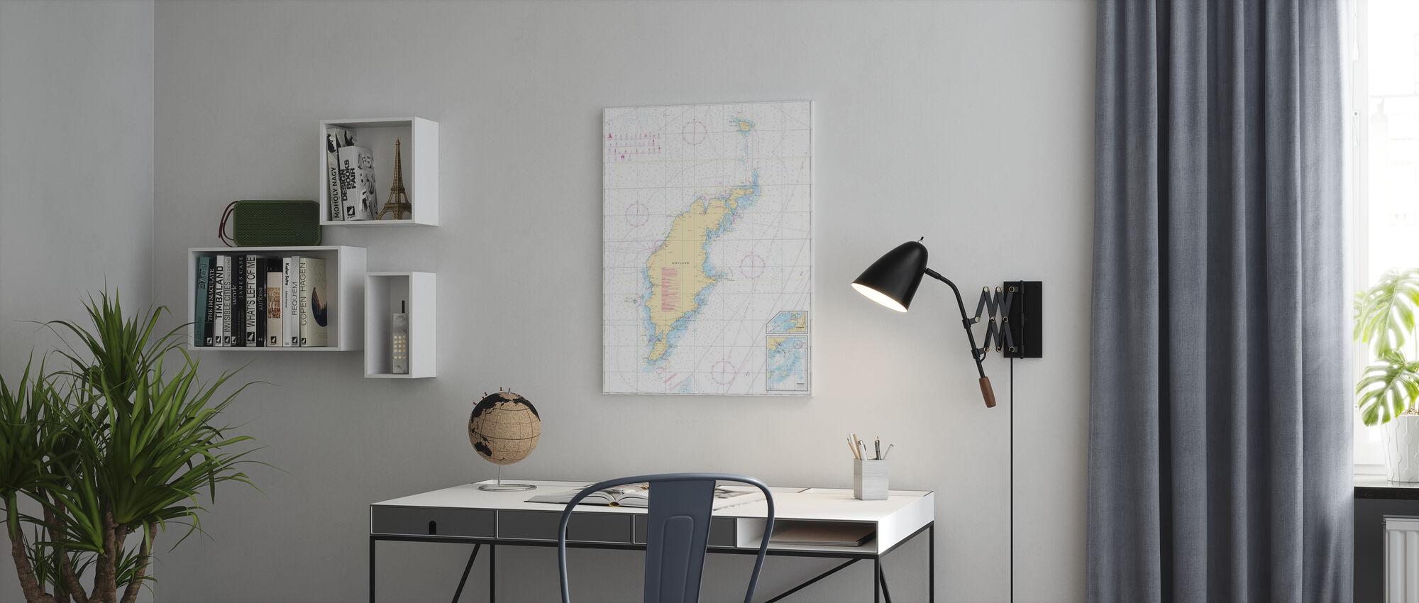 Zeekaart 73 - Gotland - Canvas print - Kantoor