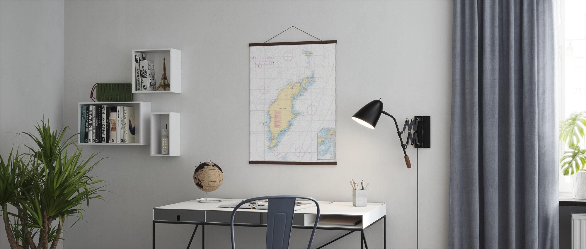 Zeekaart 73 - Gotland - Poster - Kantoor