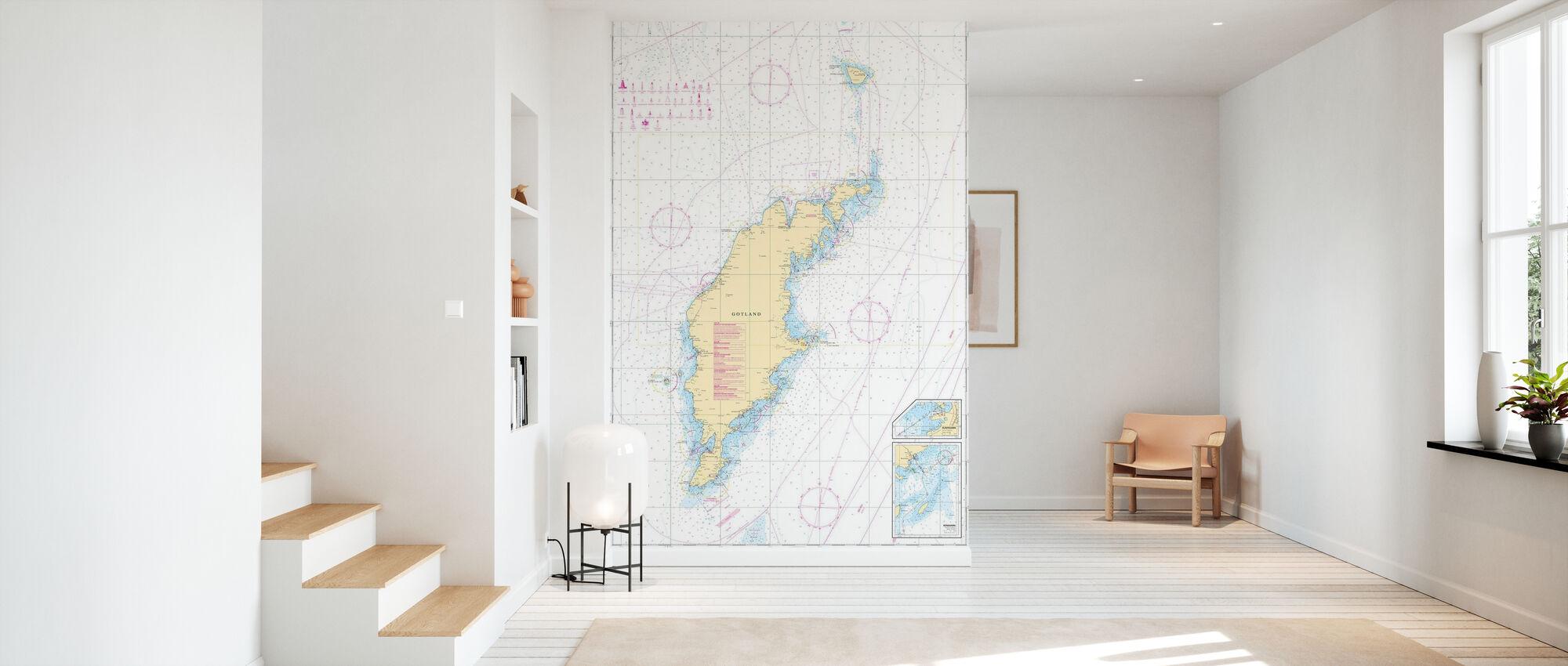 Sea Chart 73 - Gotland - Wallpaper - Hallway