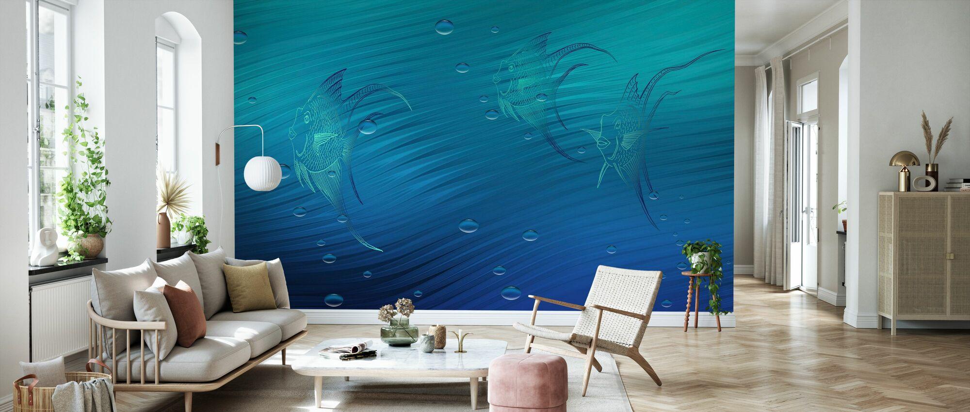 Blue Waters - Wallpaper - Living Room