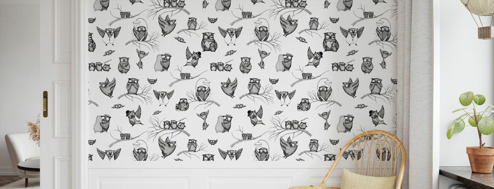 Owls Pattern - Wallpaper - Kids Room