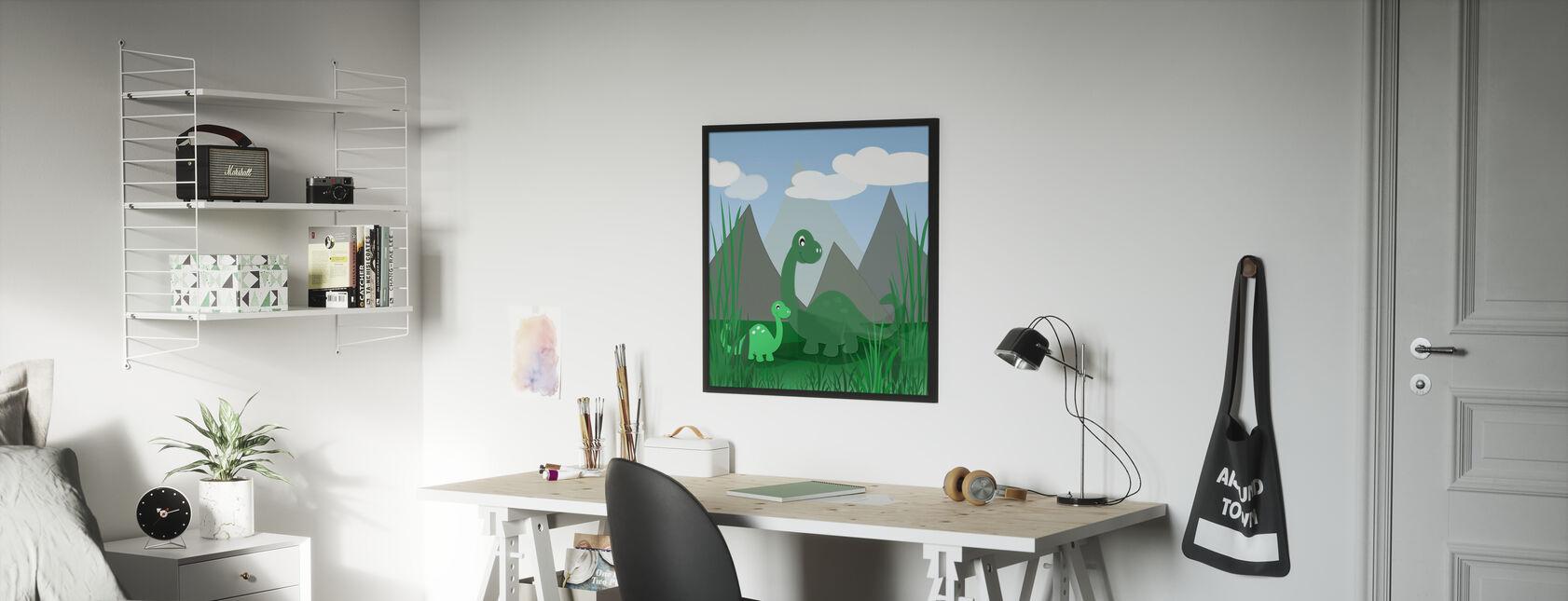 Dinoland - Kehystetty kuva - Lastenhuone