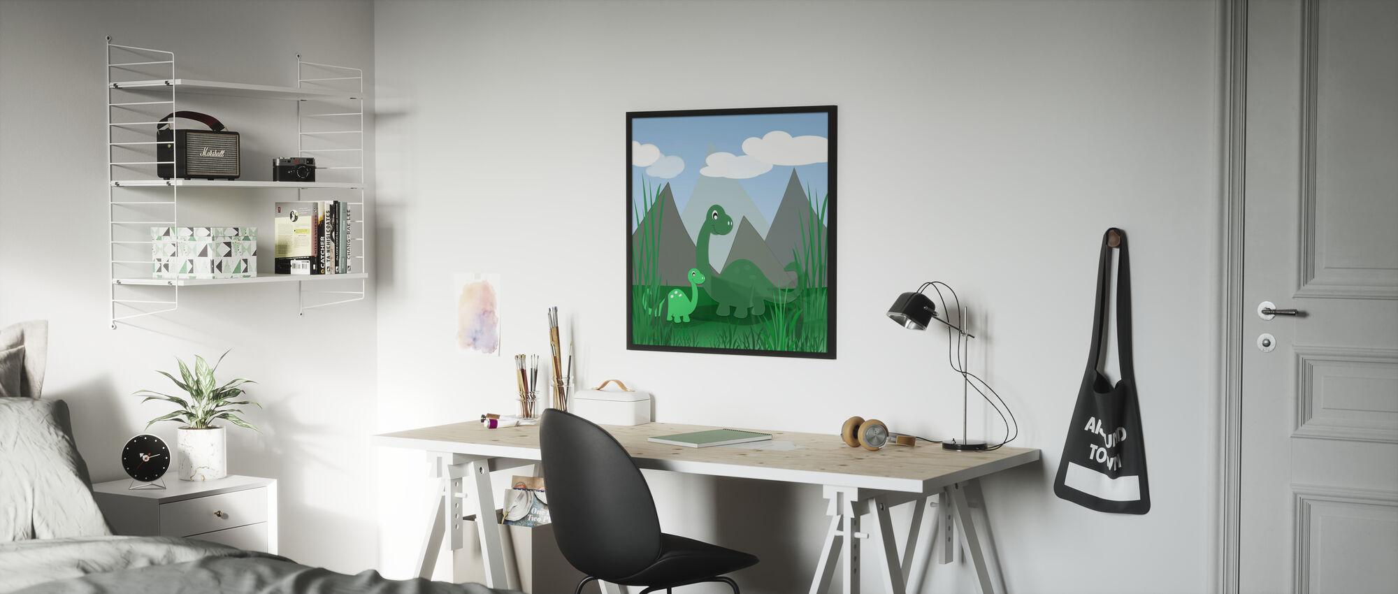 Dinoland - Framed print - Kids Room