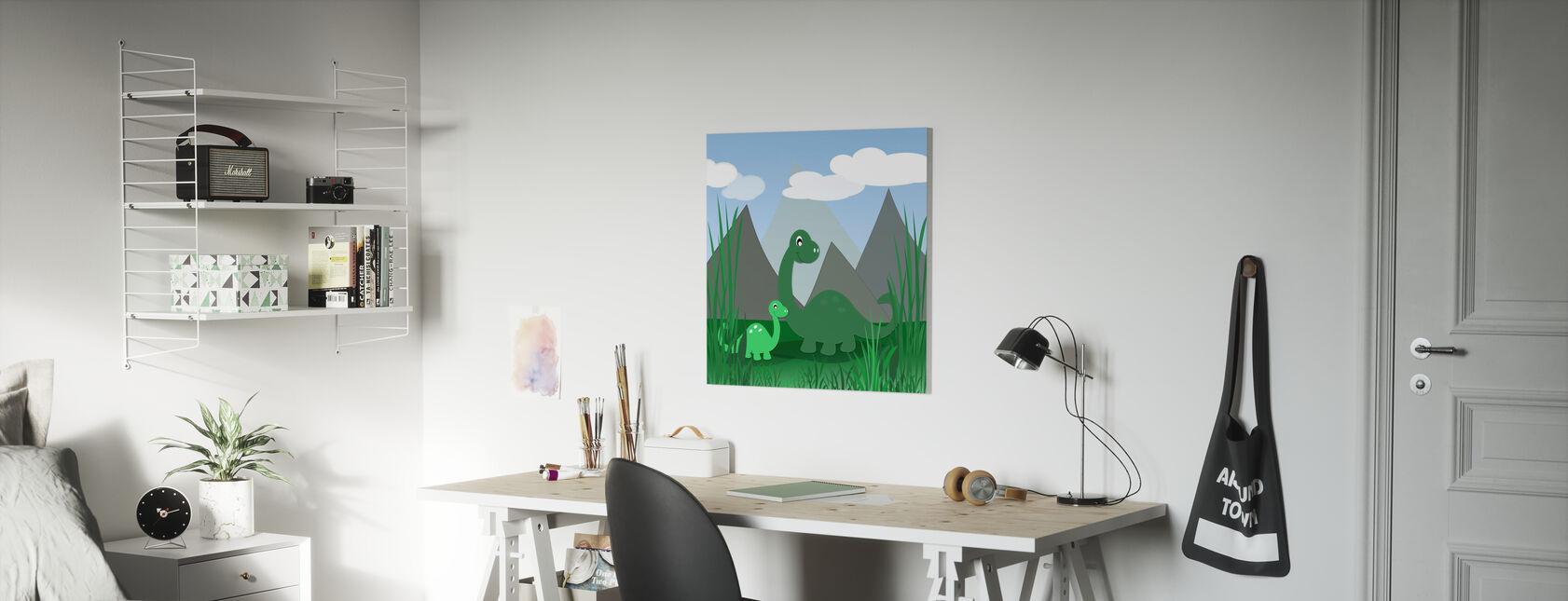 Dinoland - Impression sur toile - Chambre des enfants