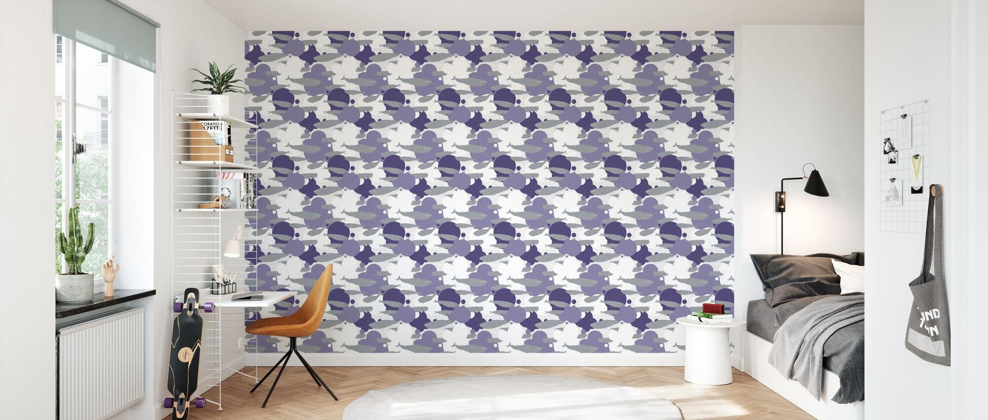 Just Another Swim - Violet - Papier peint - Chambre des enfants