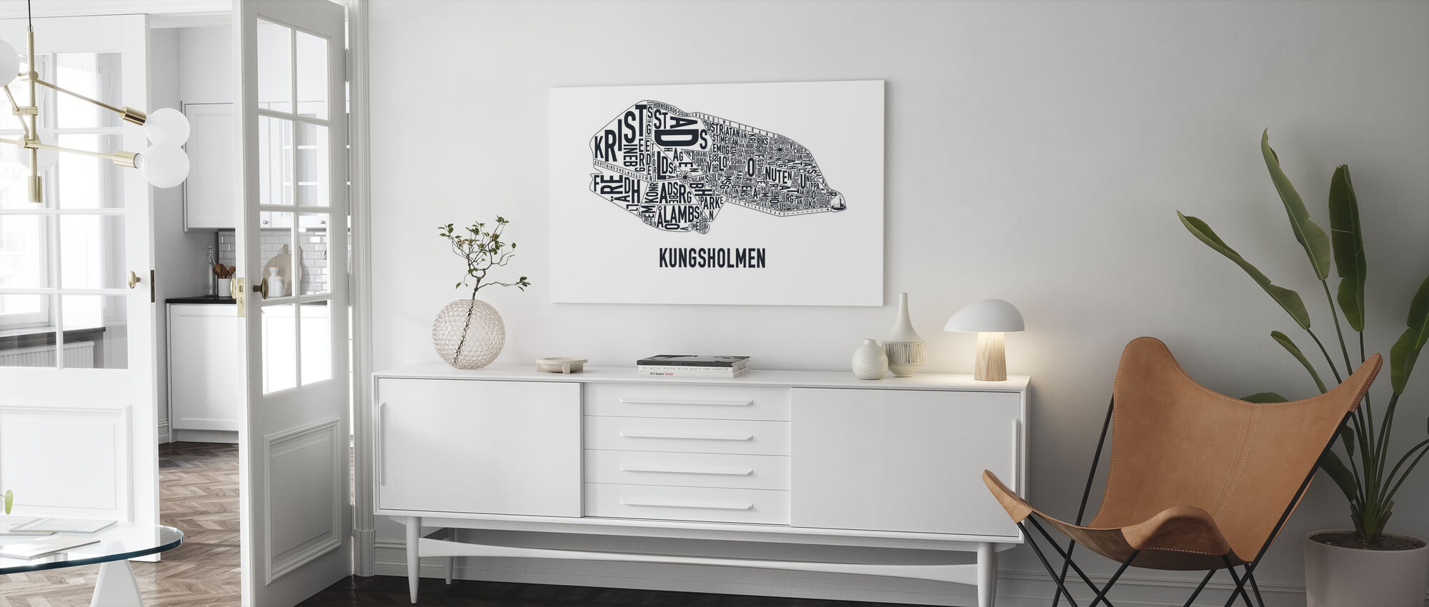 Kungsholmen - Canvas print - Living Room