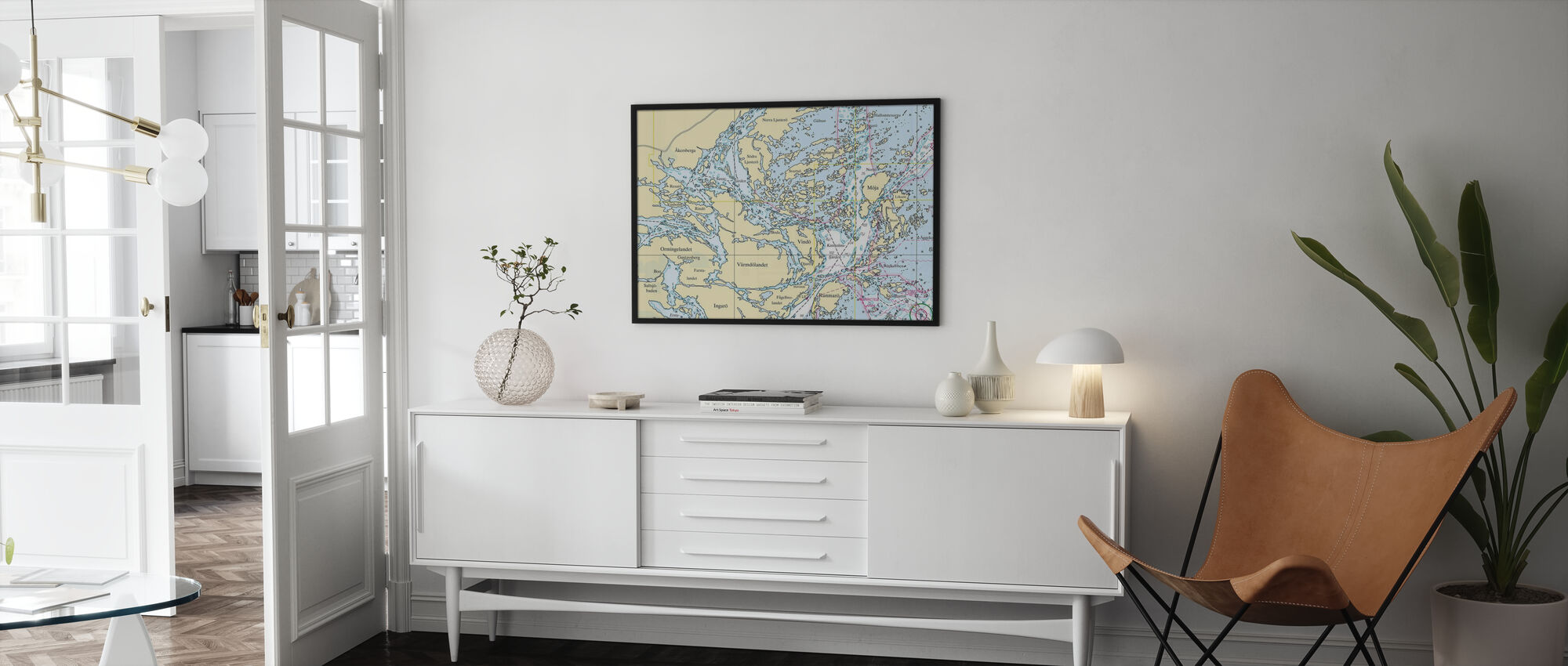 Midden-Archipel - Ingelijste print - Woonkamer