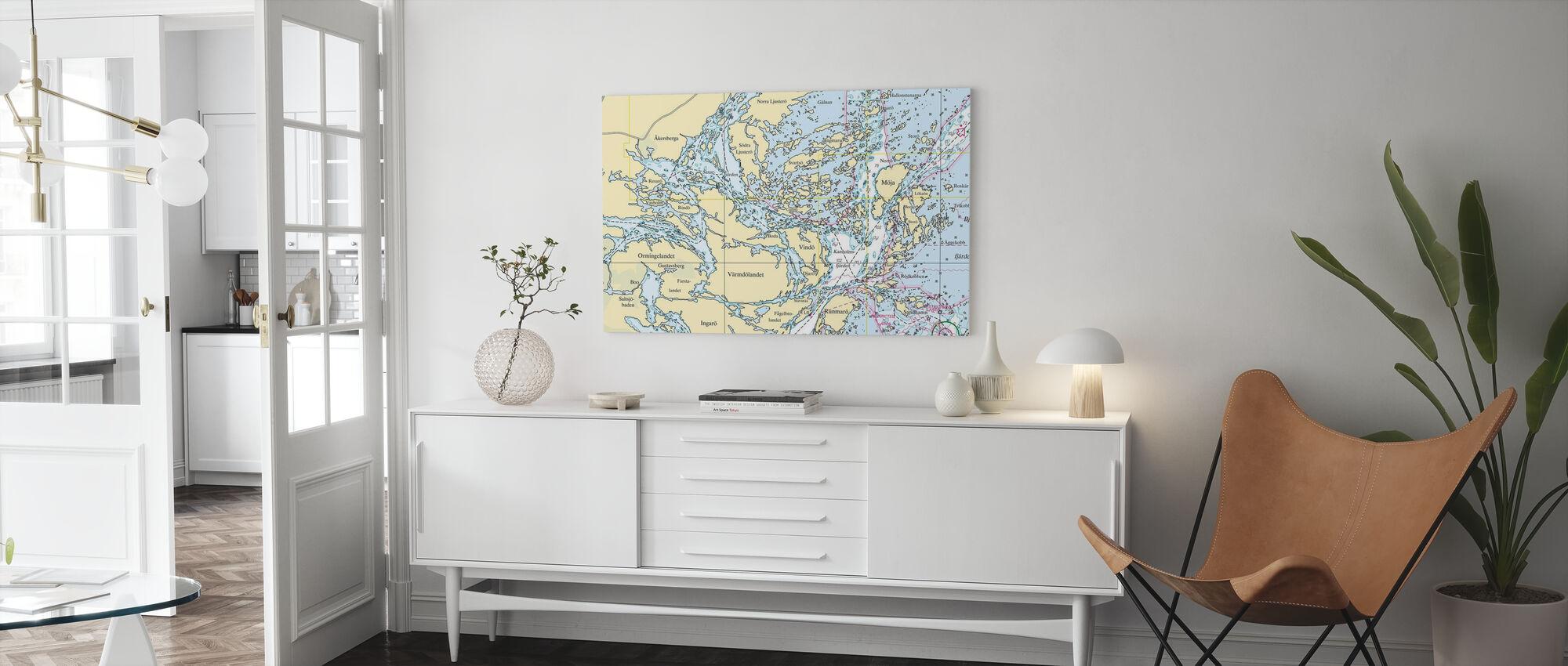 Middle Archipelago - Canvas print - Living Room