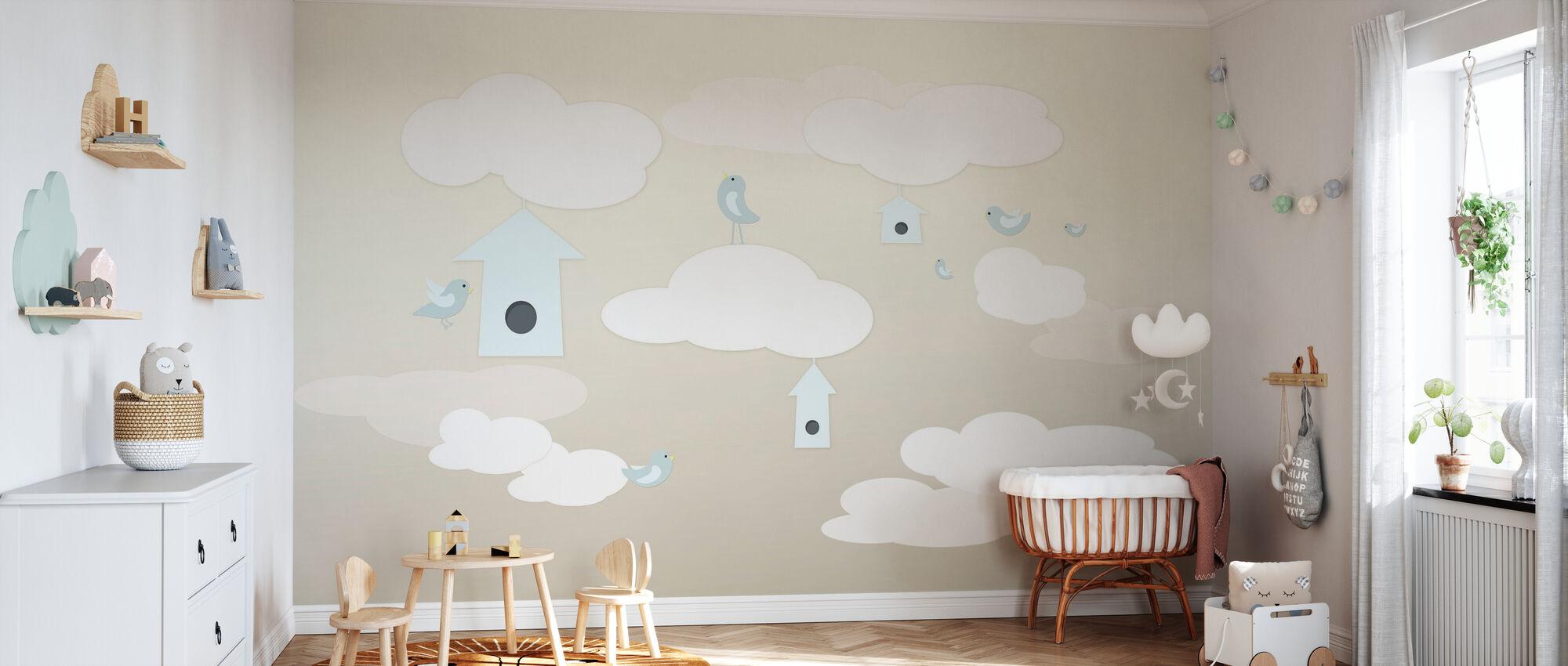 Birds Up High - Wallpaper - Nursery
