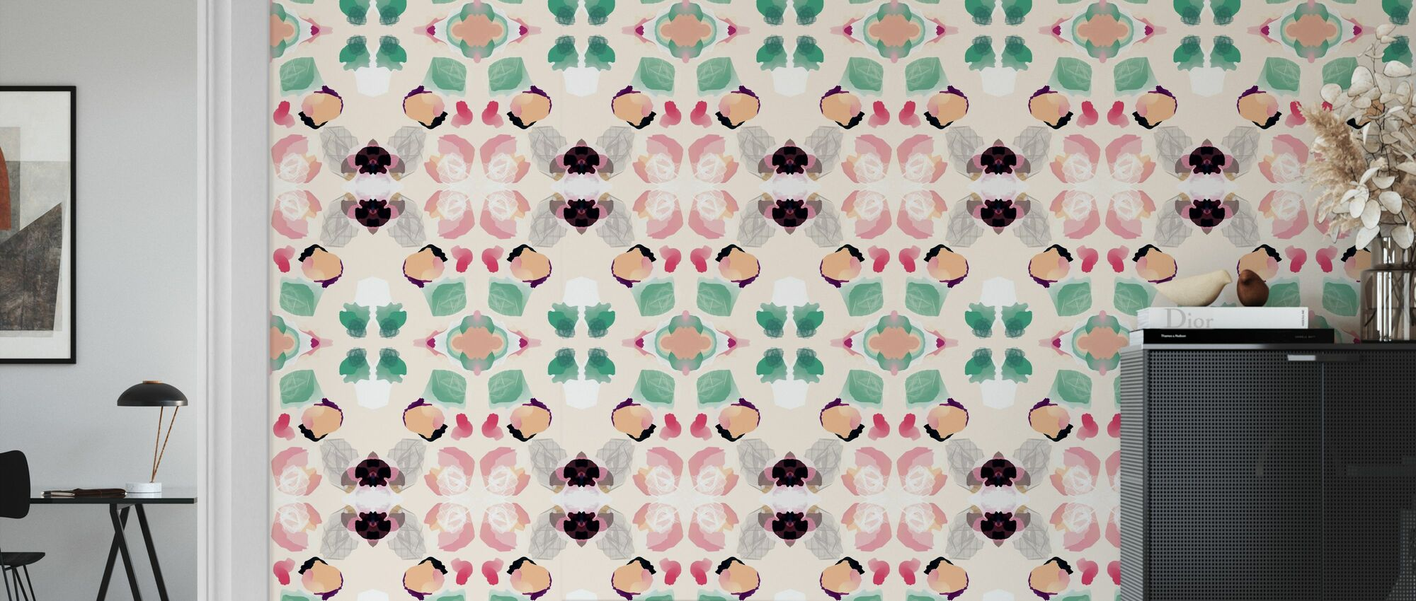 Magnolia - Wallpaper - Living Room