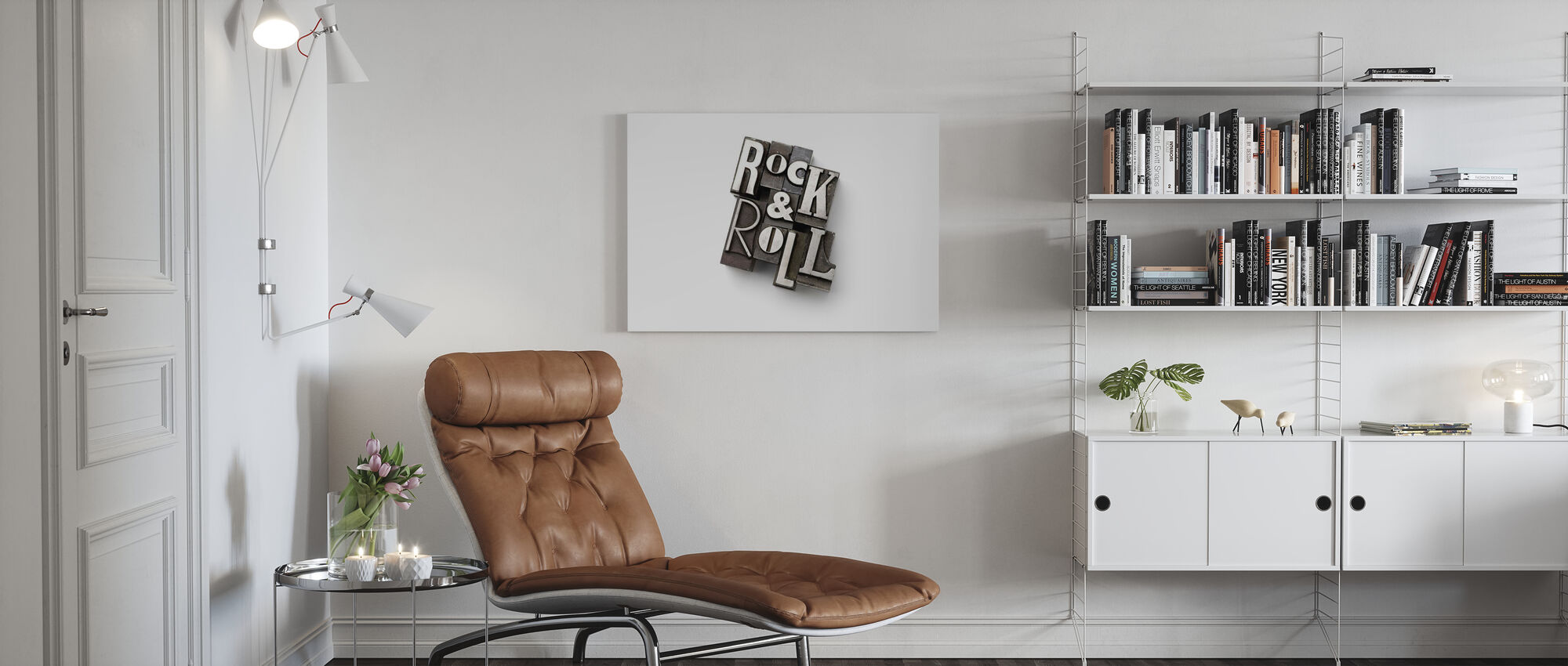 Rock and Roll Lead Types - Canvas print - Living Room