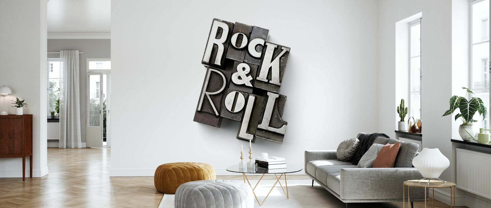 Rock and Roll Lead Types - Wallpaper - Living Room