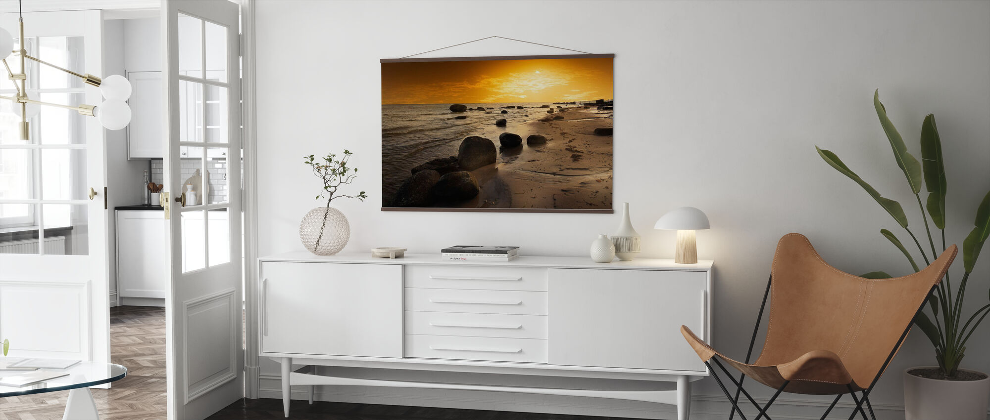 Golden Beach Sunset - Poster - Woonkamer