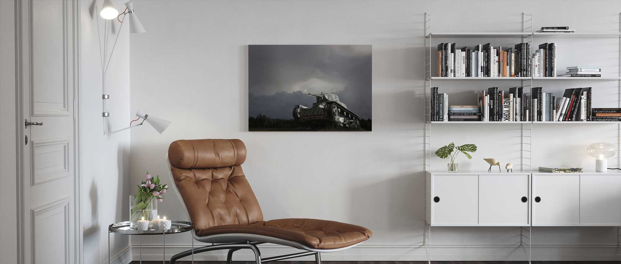 Old Tank - Canvas print - Living Room
