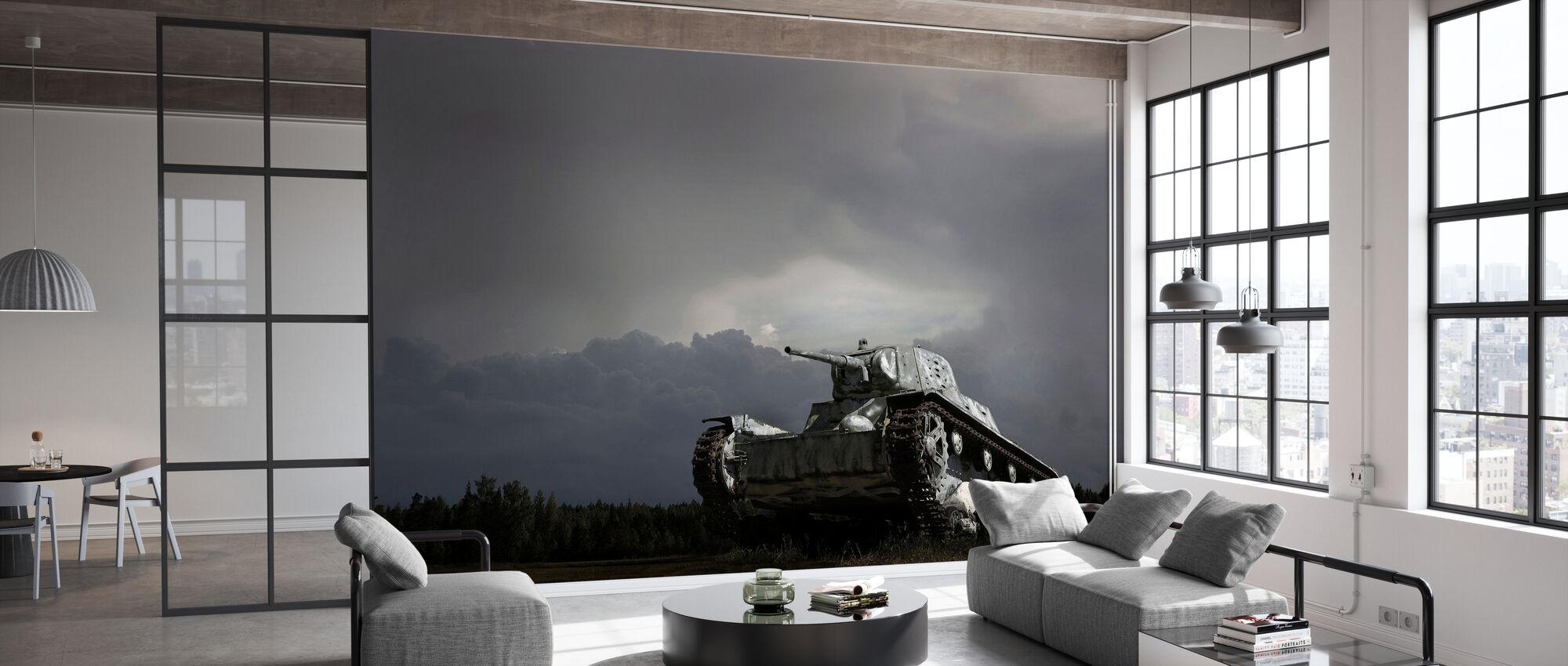 Old Tank - Wallpaper - Office