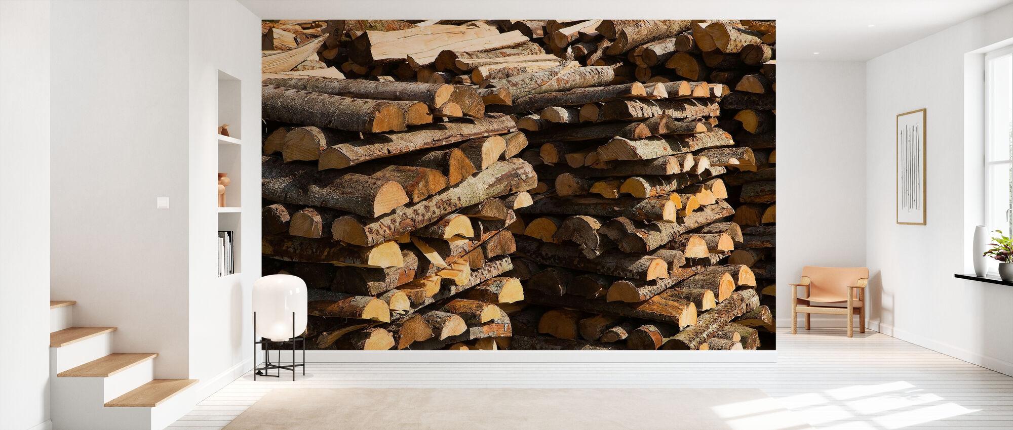 Stacks of Wood - Wallpaper - Hallway