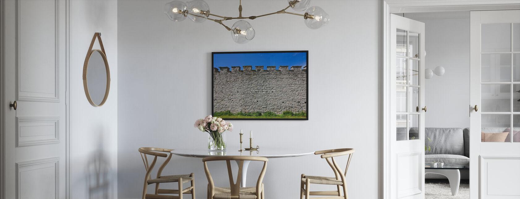 Vanha linnoitusmuuri - Kehystetty kuva - Keittiö